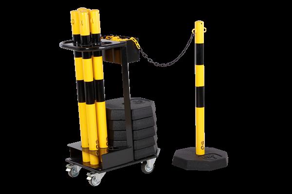 KPS-TG-GS - Kettenpfostenwagen mit gelben Set