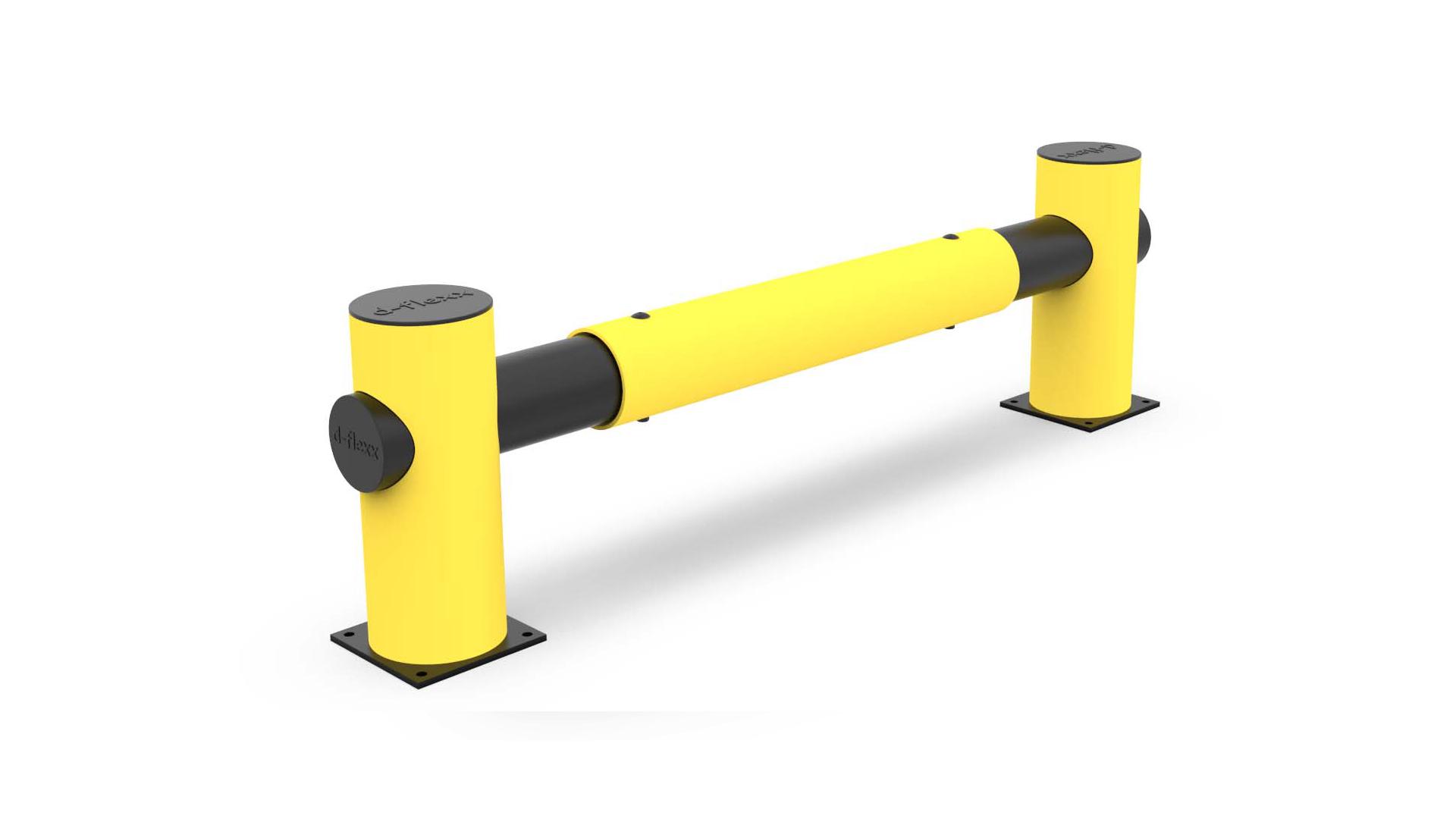 Barriere de protection flexible jaune noir