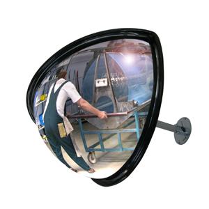 Miroir avec angle de vue 180° pour des industries